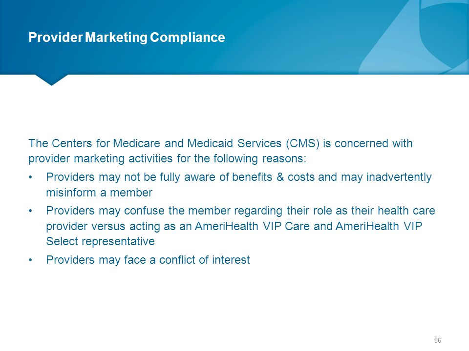 Provider Marketing Compliance