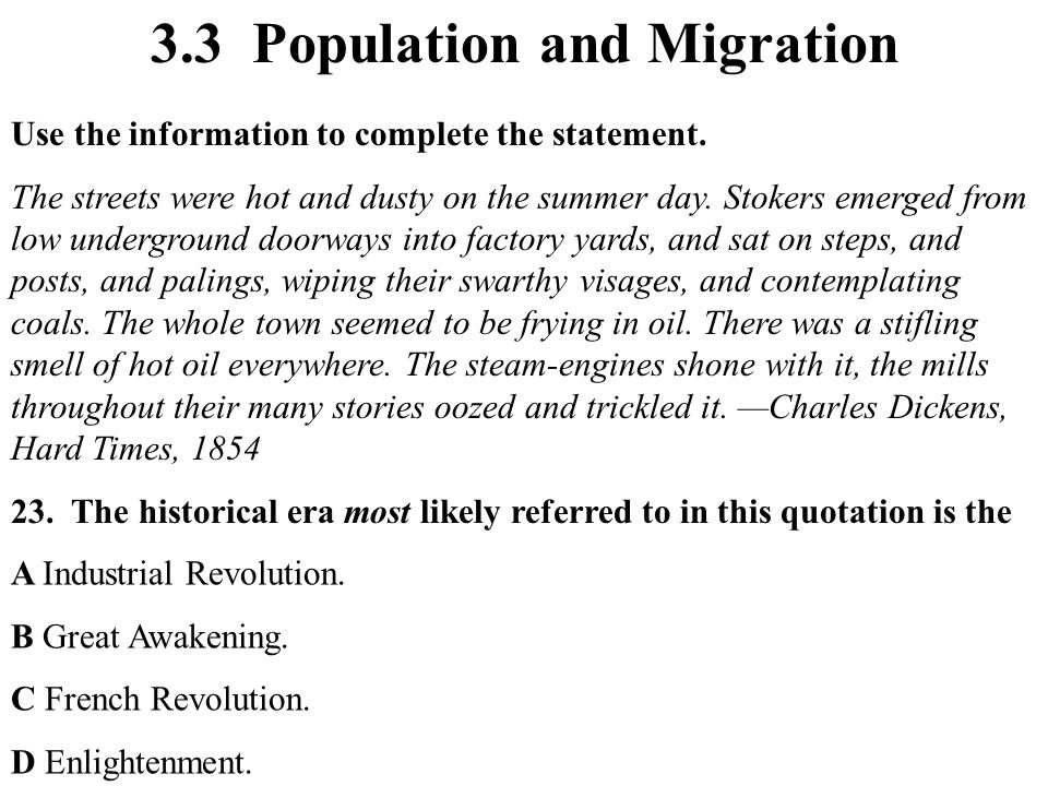 3.3 Population and Migration