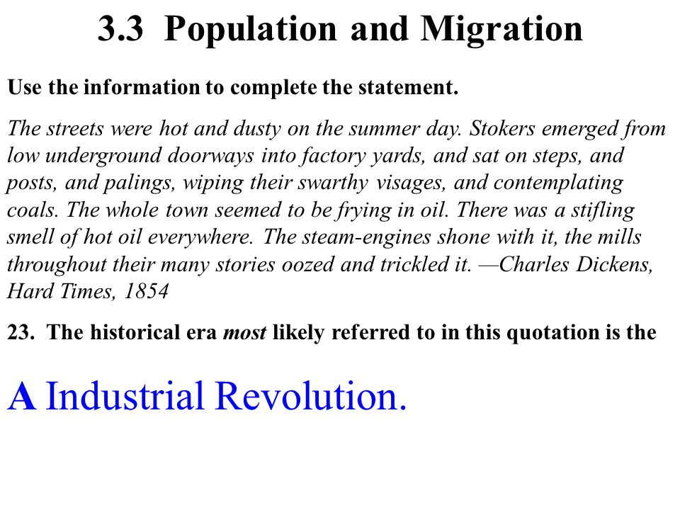 A Industrial Revolution.