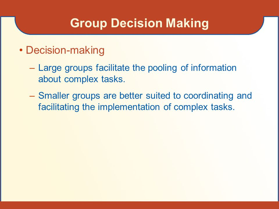 Group Decision Making Decision-making