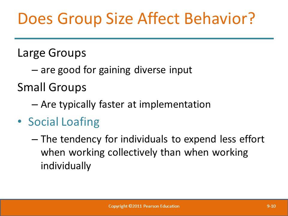 Does Group Size Affect Behavior