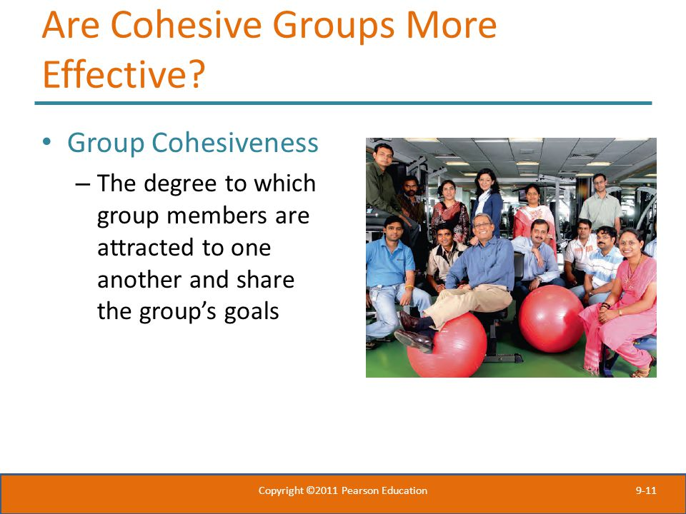 Are Cohesive Groups More Effective