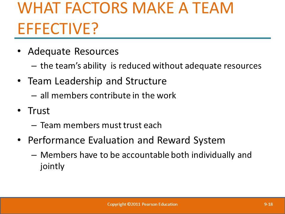WHAT FACTORS MAKE A TEAM EFFECTIVE