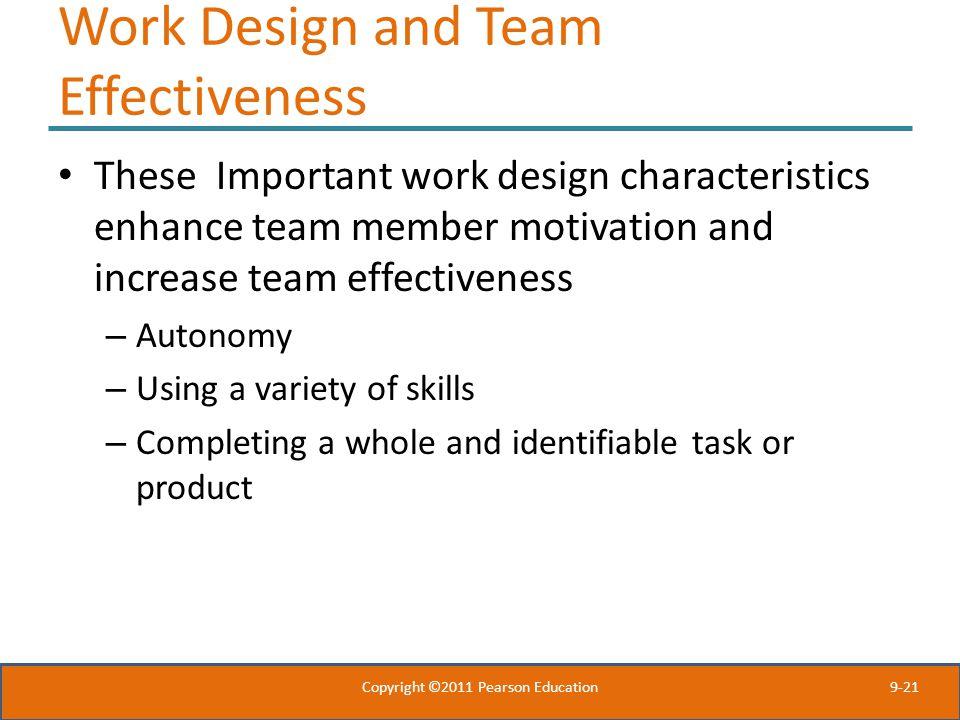 Work Design and Team Effectiveness