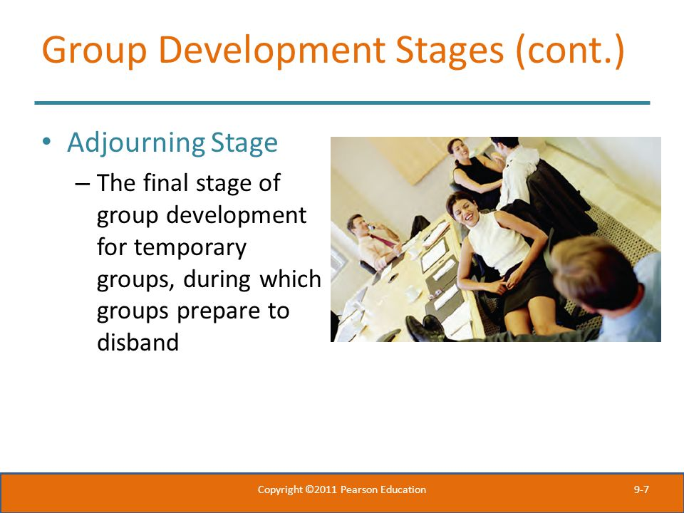 Group Development Stages (cont.)