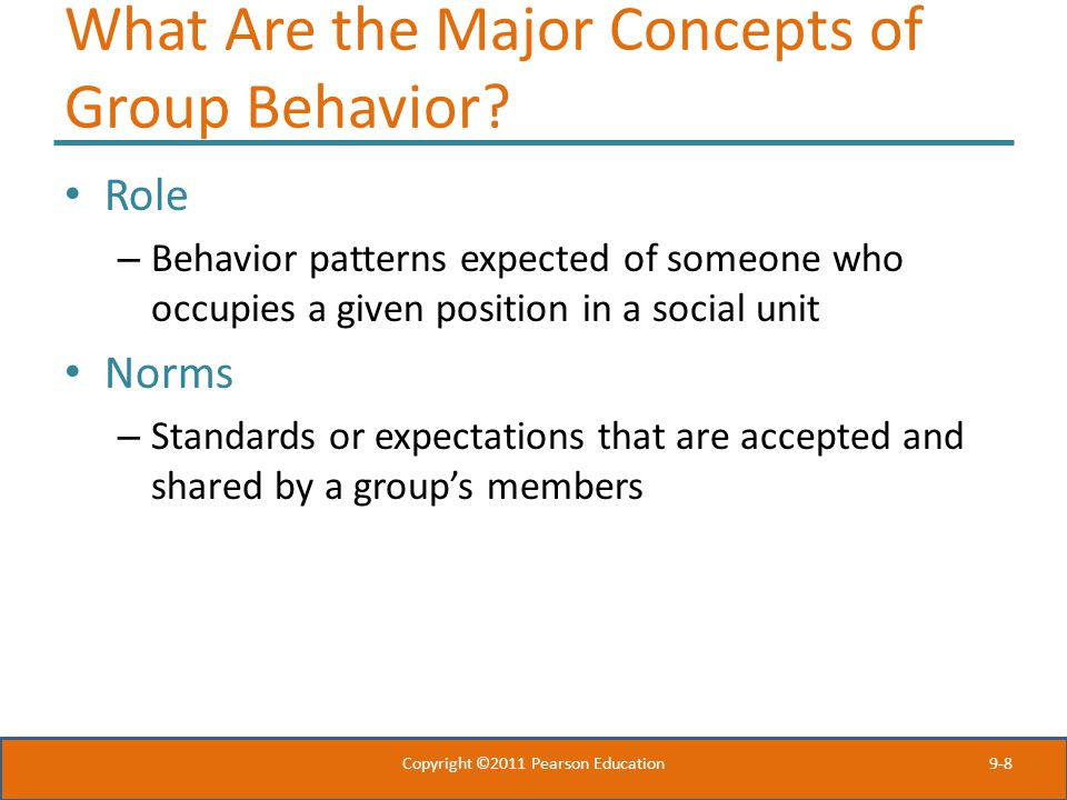 What Are the Major Concepts of Group Behavior