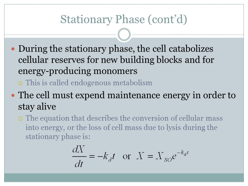 Stationary Phase (cont'd)