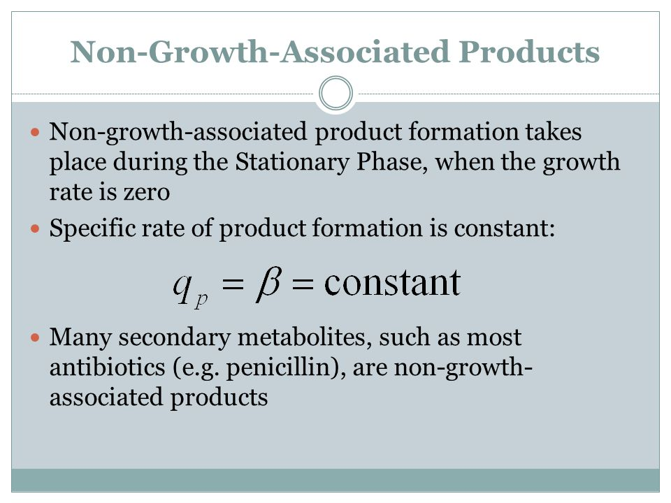 Non-Growth-Associated Products