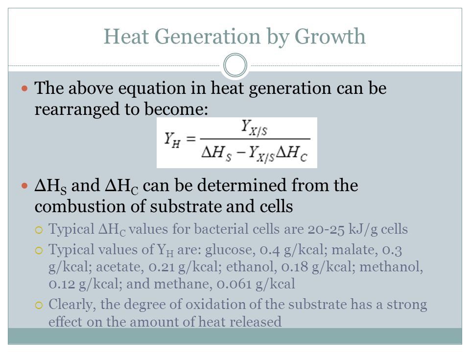 Heat Generation by Growth