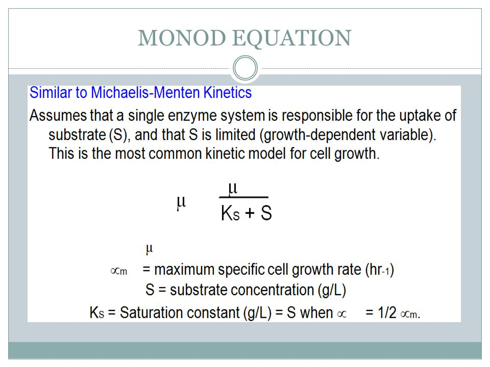 MONOD EQUATION