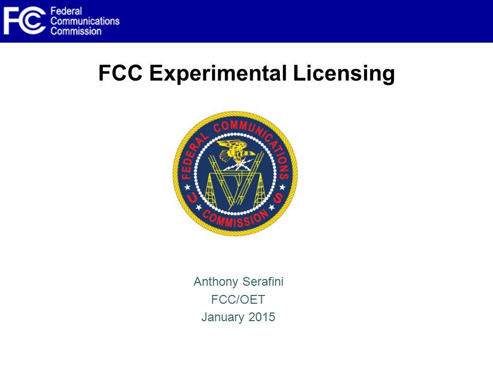 FCC Experimental Licensing