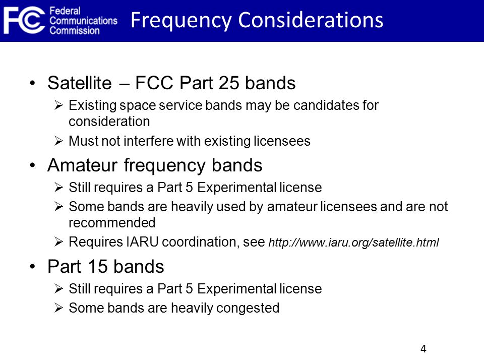 Frequency Considerations