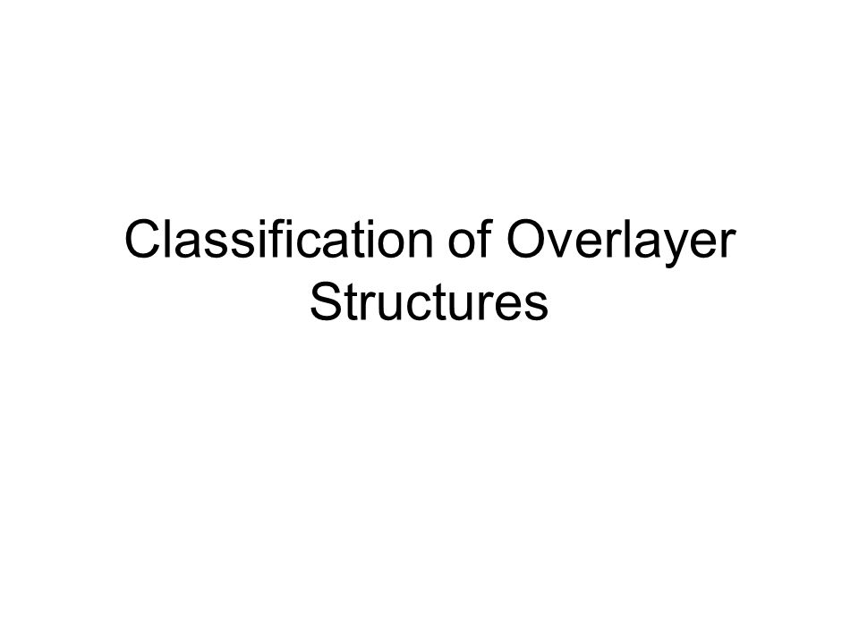 Classification of Overlayer Structures
