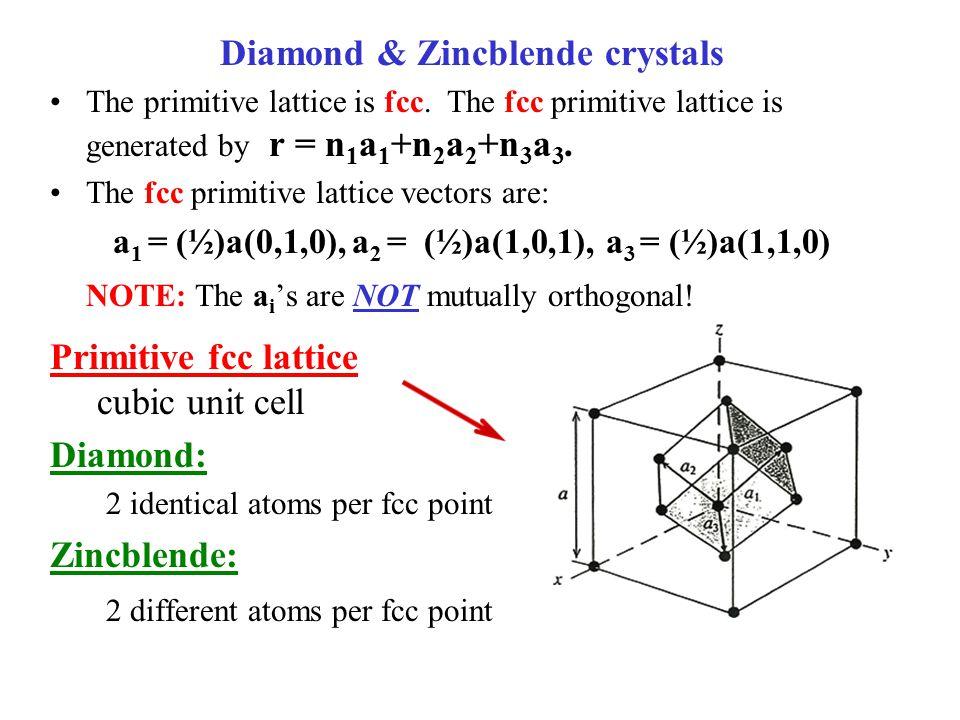 Diamond & Zincblende crystals