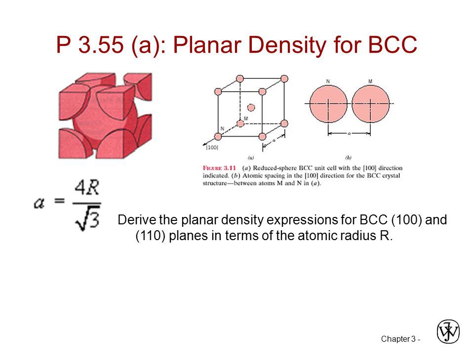 P 3.55 (a): Planar Density for BCC