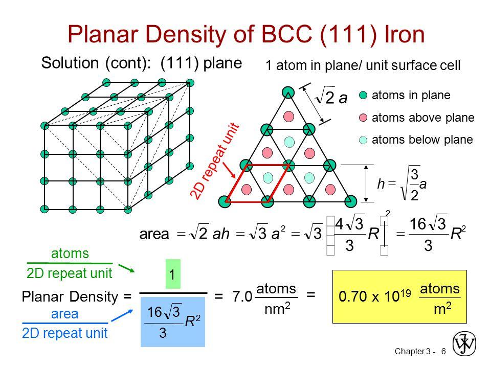 Planar Density of BCC (111) Iron