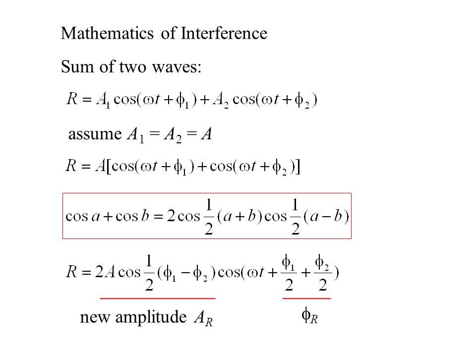 Mathematics of Interference