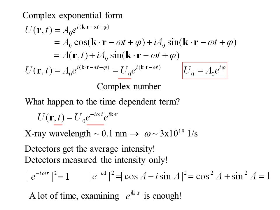 Complex exponential form