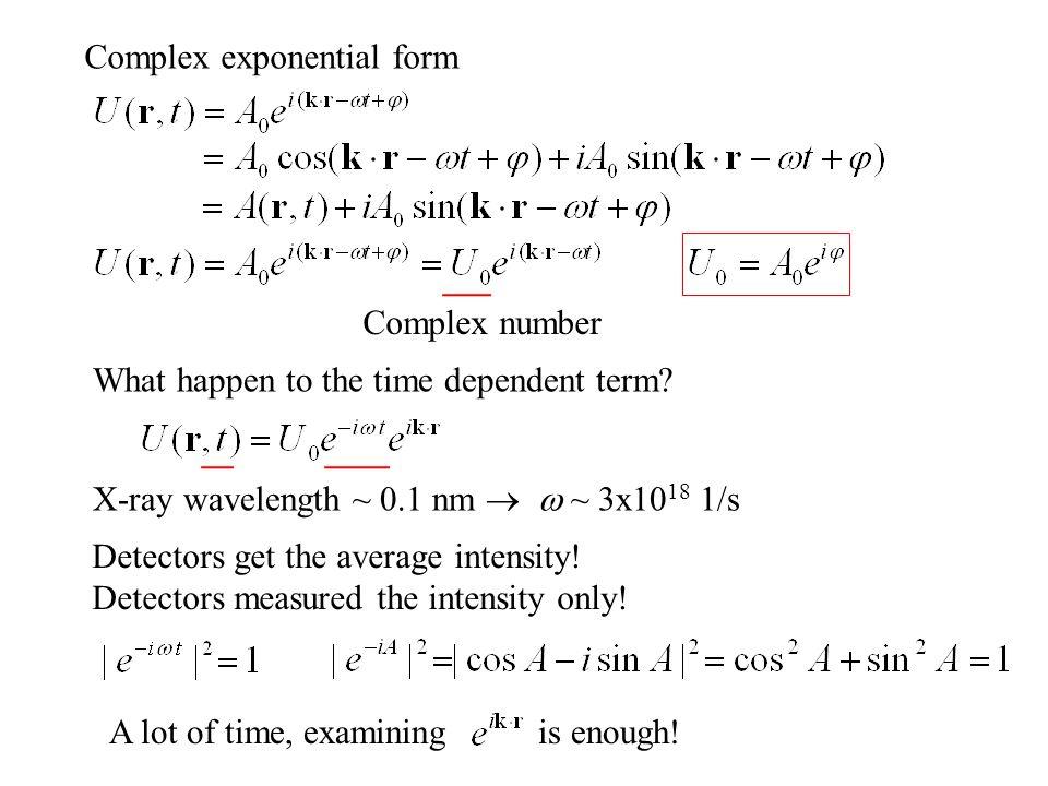 Complex exponential form