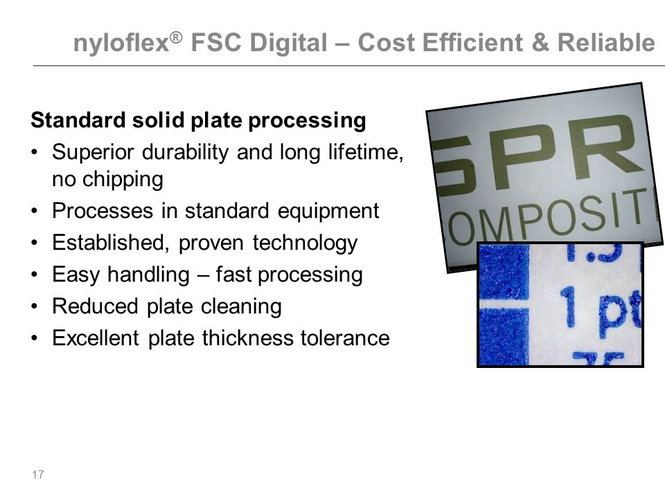 nyloflex® FSC Digital – Cost Efficient & Reliable