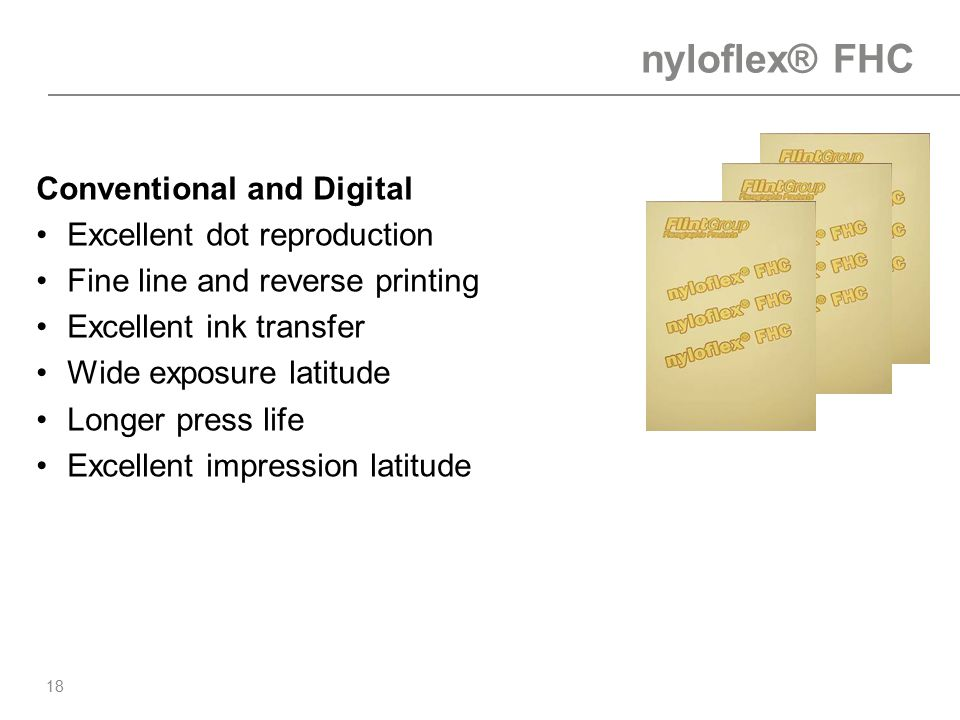 nyloflex® FHC Conventional and Digital Excellent dot reproduction