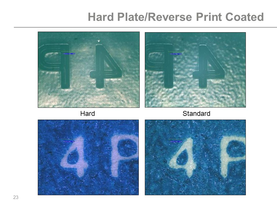 Hard Plate/Reverse Print Coated