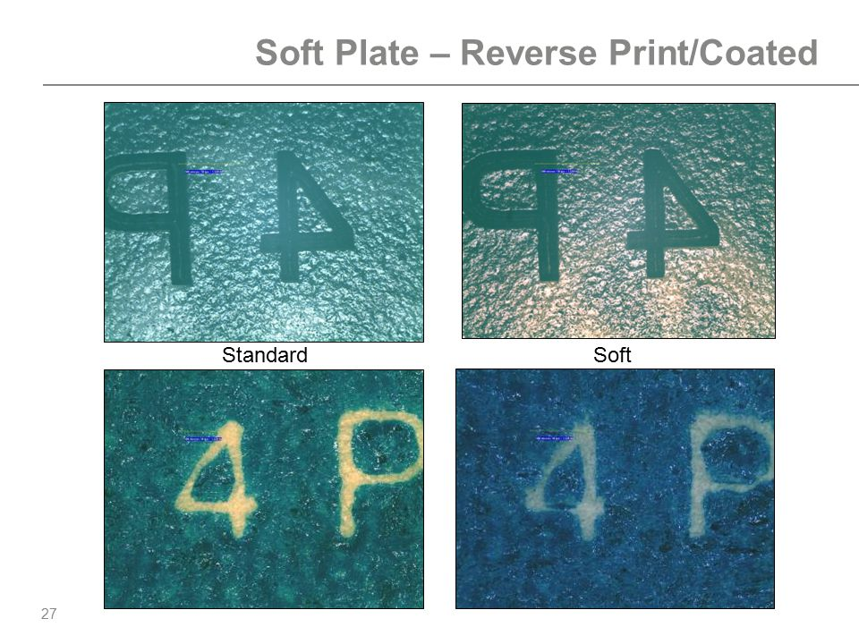 Soft Plate – Reverse Print/Coated