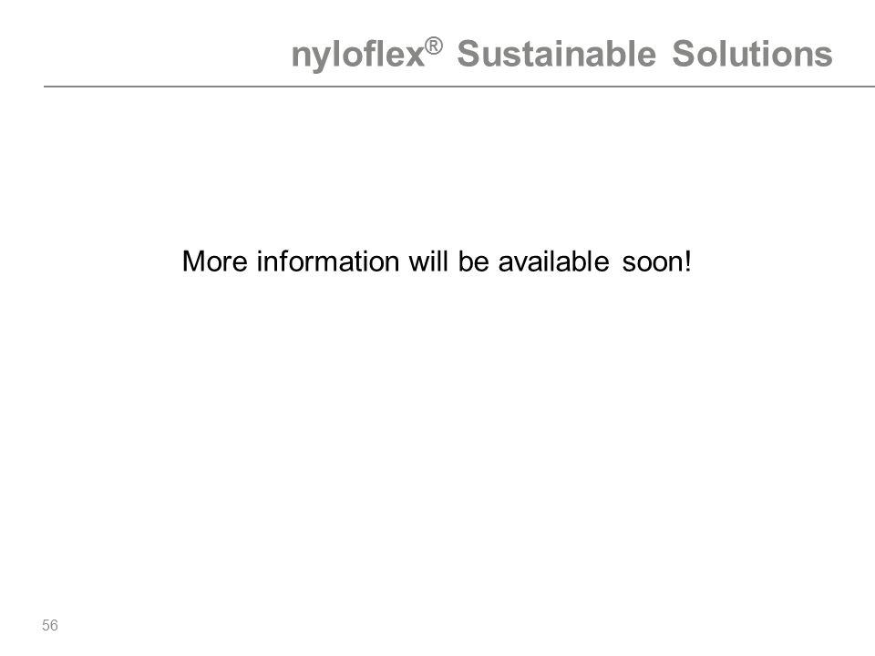 nyloflex® Sustainable Solutions