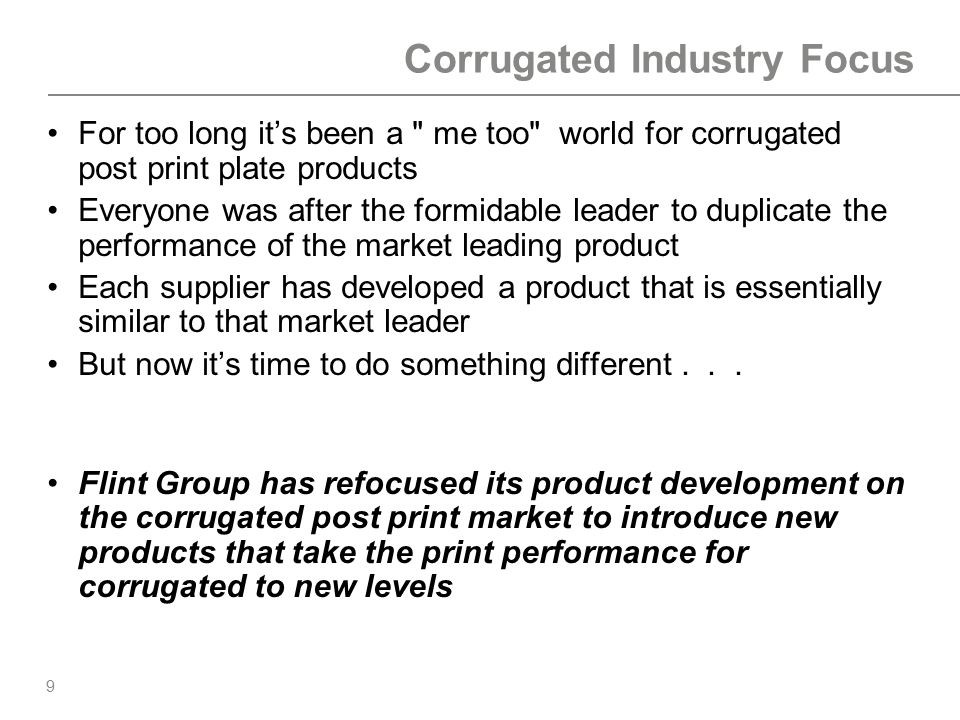 Corrugated Industry Focus