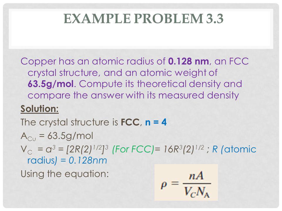 EXAMPLE PROBLEM 3.3