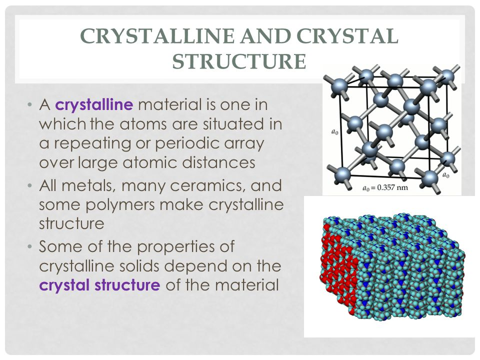 Crystalline and Crystal Structure