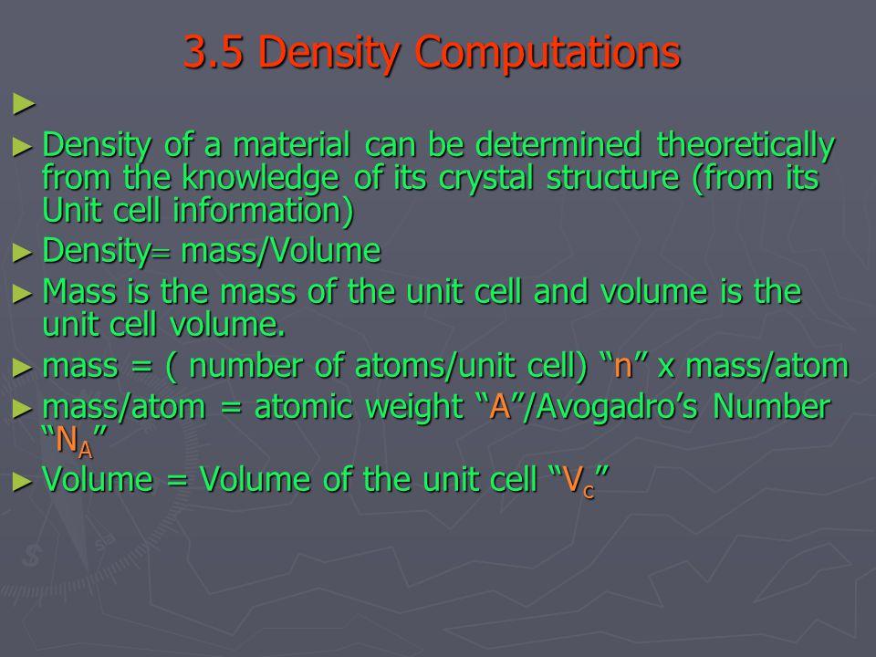 3.5 Density Computations
