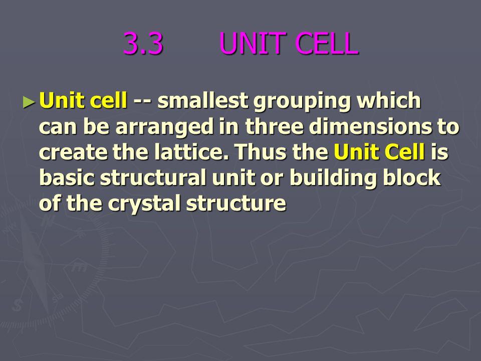 3.3 UNIT CELL