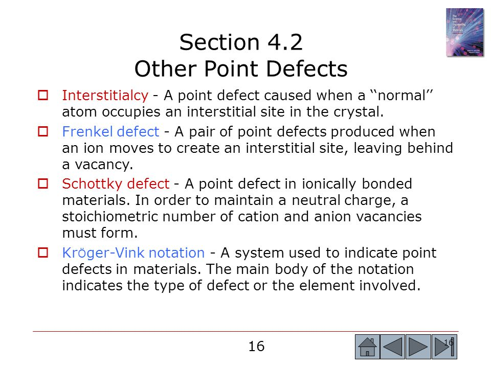 Section 4.2 Other Point Defects