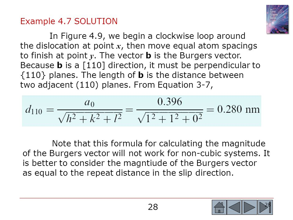 Example 4.7 SOLUTION