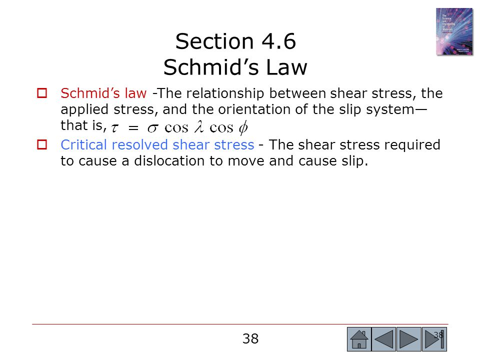Section 4.6 Schmid's Law