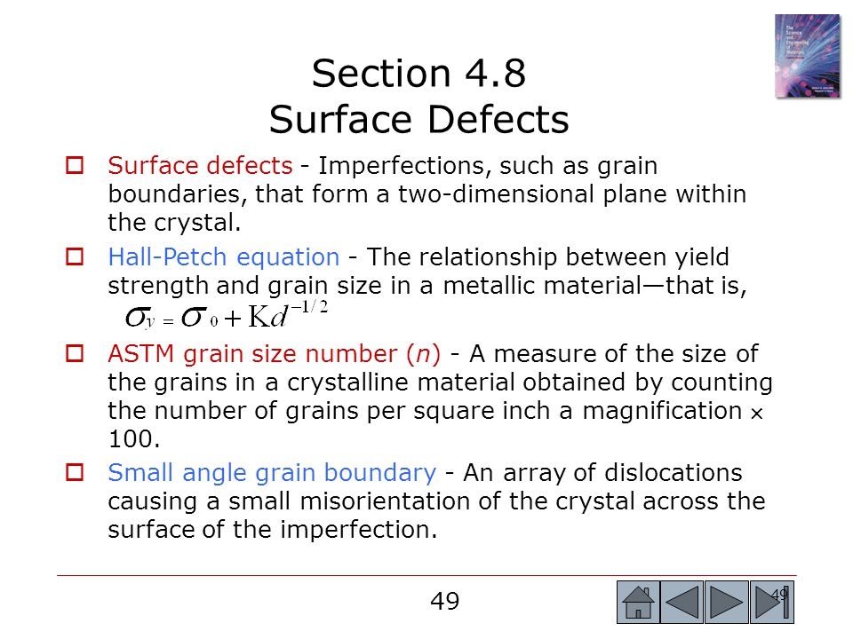 Section 4.8 Surface Defects