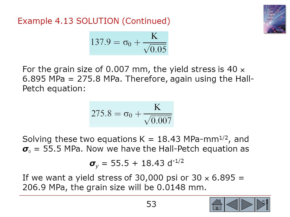Example 4.13 SOLUTION (Continued)