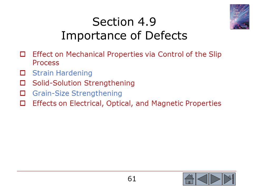 Section 4.9 Importance of Defects