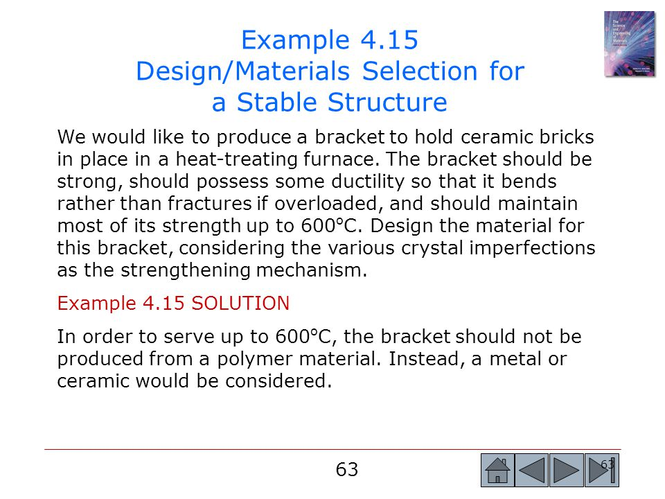 Example 4.15 Design/Materials Selection for a Stable Structure