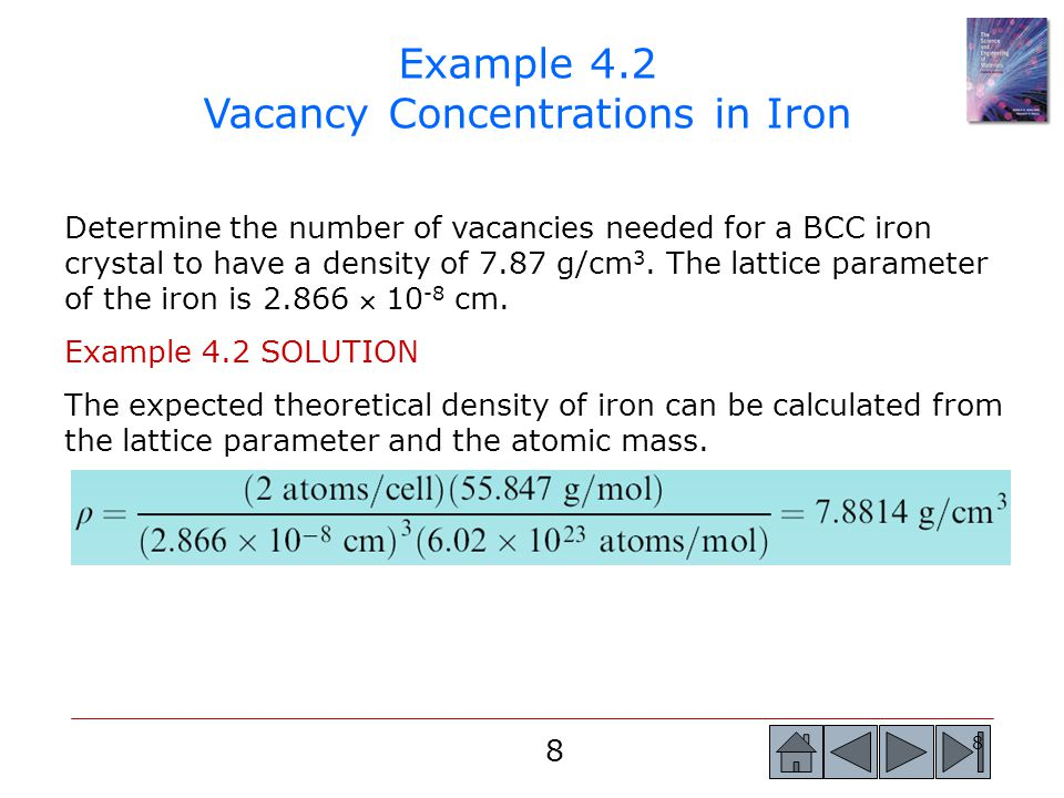 Example 4.2 Vacancy Concentrations in Iron
