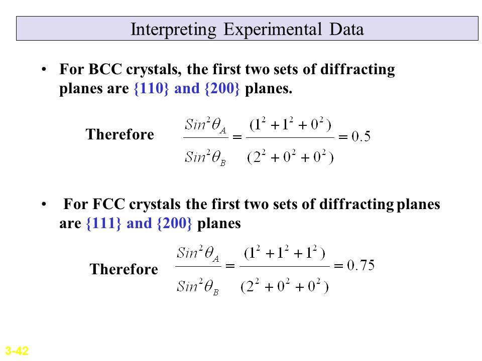 Interpreting Experimental Data