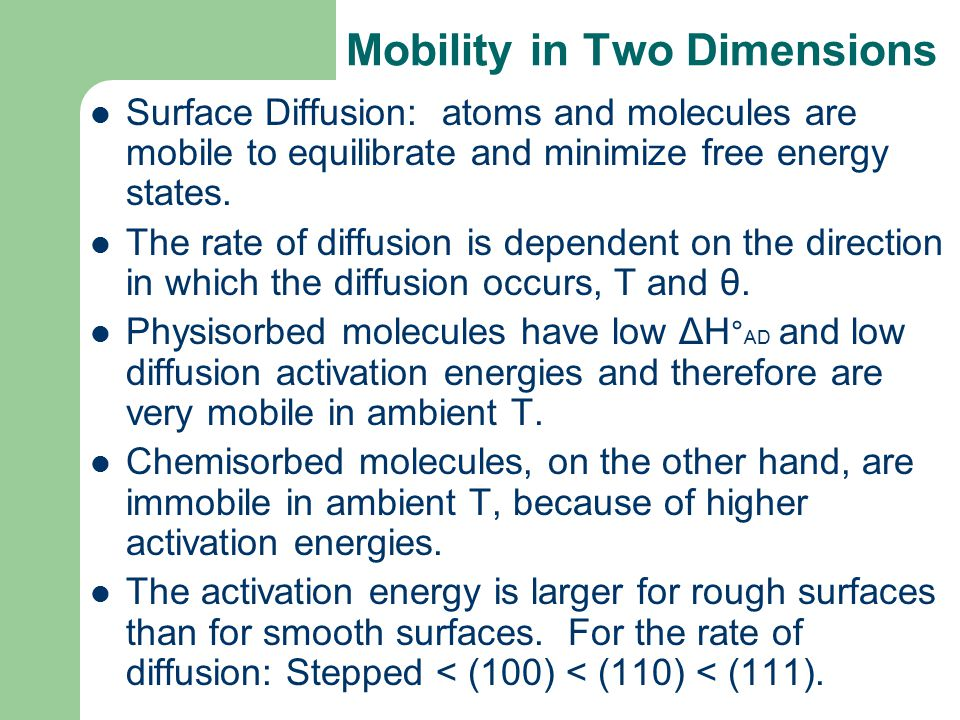 Mobility in Two Dimensions