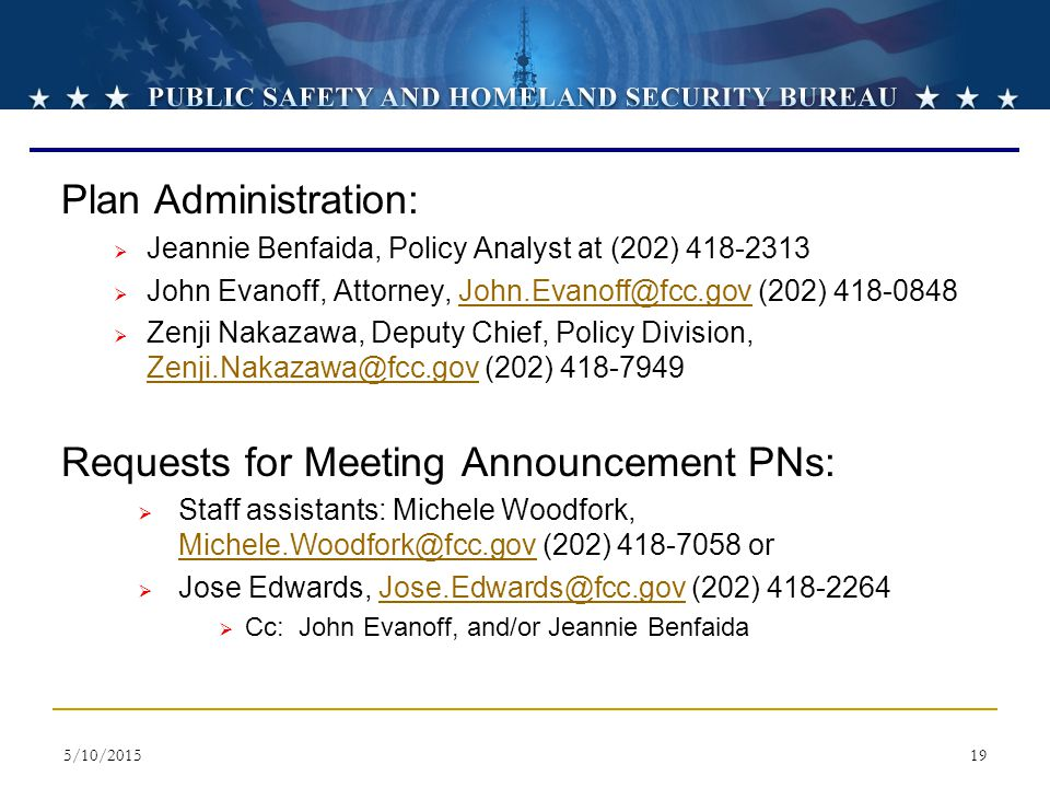 Requests for Meeting Announcement PNs: