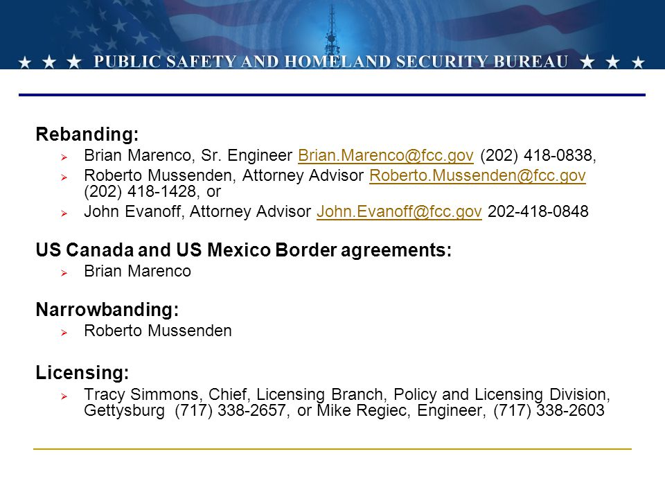 US Canada and US Mexico Border agreements: