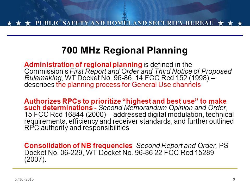 700 MHz Regional Planning