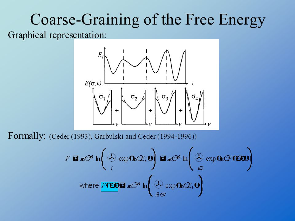 Coarse-Graining of the Free Energy