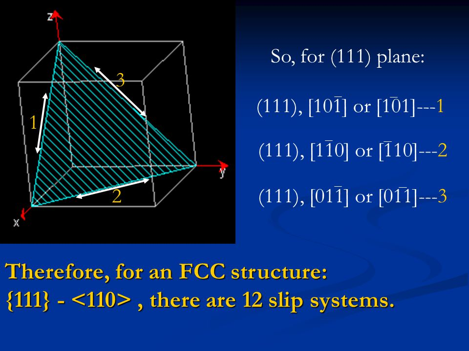Therefore, for an FCC structure: