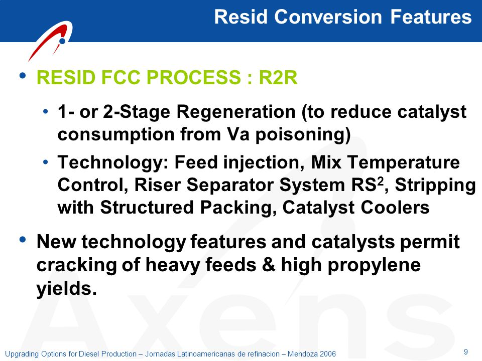 Resid Conversion Features
