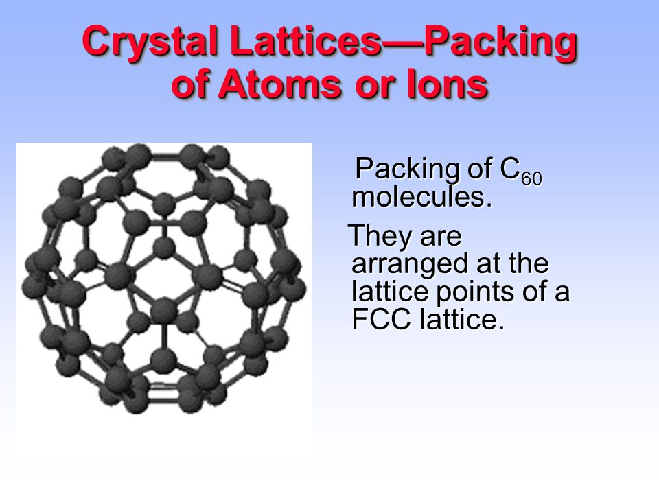 Crystal Lattices—Packing of Atoms or Ions